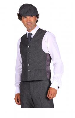 T3067-1600 grau Herren Krawatte Peaky blinder - 3