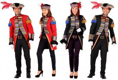 T2395-0501 rot Damen Uniform Jacke ''Ribbon Chaos'' - 1