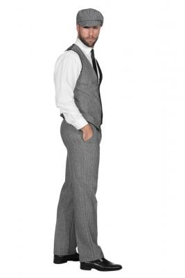 W3303750+O22546 grau Herren 1920 er Jahre Mann Kostüm Thomas - 1