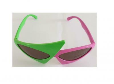 O47541-16 grün-pink Damen Herren Brille Style Funbrille - 2