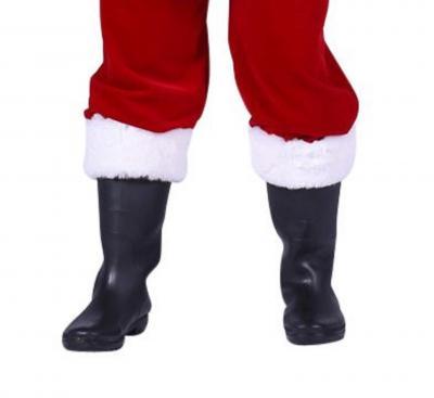 T2413-45 schwarz Damen Herren Weihnachtsmannstiefel Gr.45 - 1