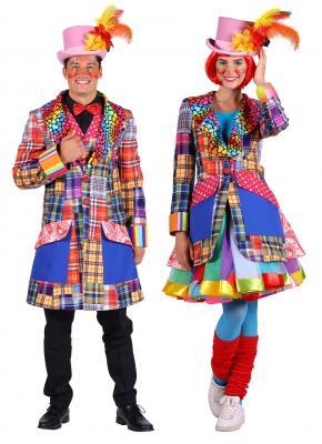 T2944 mehrfarbig Herren Clown Jacke - 2