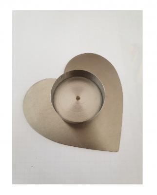 GI17 silberfarbend Teelichthalter Herz - 2