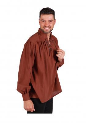 T3163-1300 braun Herren Piraten-Mittelalter Shirt - 1