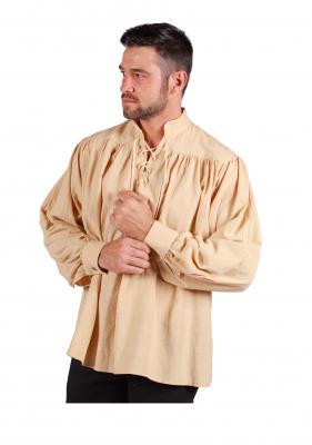T3163-2200 ecru-beige Herren Piraten-Mittelalter Shirt - 1