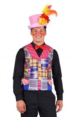 T2943-S mehrfarbig Herren Clown Weste Gr.S=48 - 1