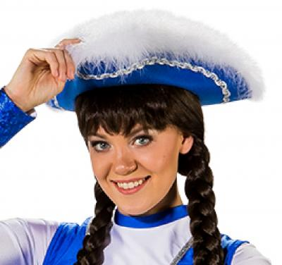 O28083-25-55-56 blau mit Silberborte Kinder-Damen Funkenhut Gr.55-56 - 1