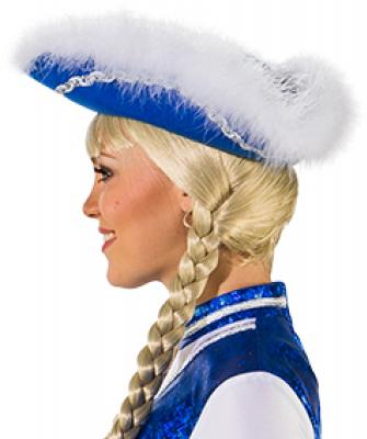 O28083-25-55-56 blau mit Silberborte Kinder-Damen Funkenhut Gr.55-56 - 2