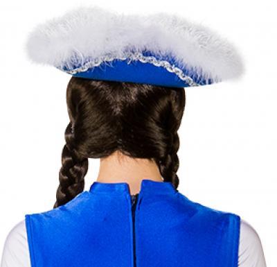 O28083-25-55-56 blau mit Silberborte Kinder-Damen Funkenhut Gr.55-56 - 3