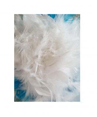 N9-55-56 weiß mit Silberborte und türkis-weißer Boa Kinder-Damen Funkenhut Gr.55-56 - 4