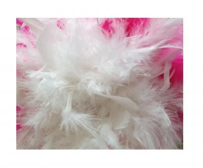 N7-55-56 weiß mit Silberborte und pink-weißer Boa Kinder-Damen Funkenhut Gr.55-56 - 4