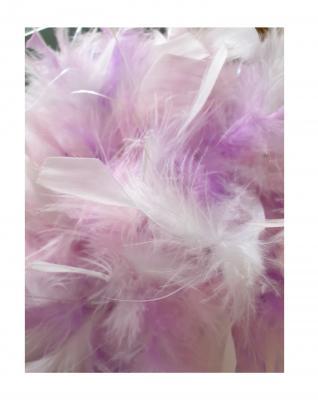 N5-55-56 weiß mit Silberborte und rosa-flieder-weißer Boa mit Glitzerfäden Kinder-Damen Funkenhut Gr.55-56 - 4