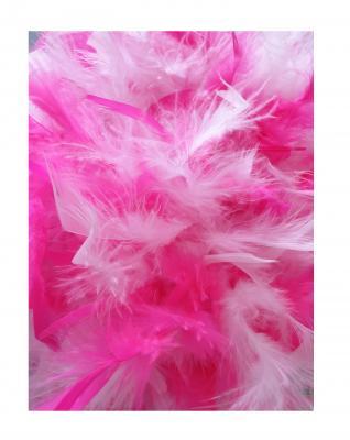 N3-55-56 weiß mit Silberborte und pink-weißer Boa Kinder-Damen Funkenhut Gr.55-56 - 4