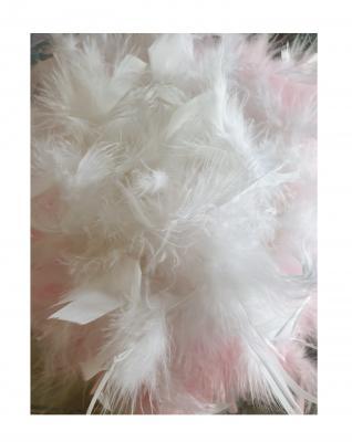 N2-55-56 weiß mit Silberborte und rosa-weißer Boa Kinder-Damen Funkenhut Gr.55-56 - 4