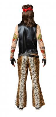O7983 Leo Herren Schlaghose Leoparden Discohose Punker Rocker - 2