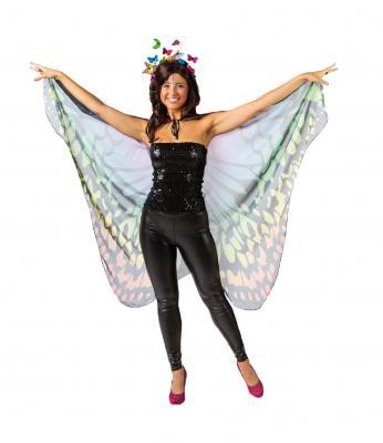 O22070-50 bunt Haarreif Schmetterling Einheitsgröße - 2