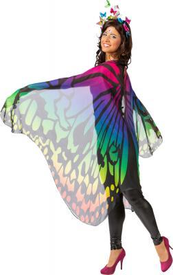 O1054-50 bunt Cape Umhang Schmetterling Einheitsgröße - 2