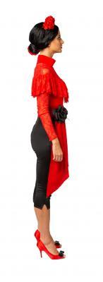 O40148.17 rot Damen Spitzen-Body Volant - 4