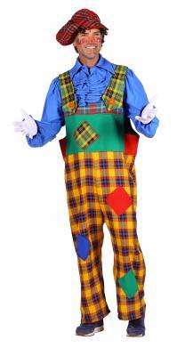 T3292-1000 mehrfarbig Herren Clown Hose Latzhose - 1