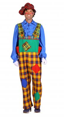T3292-1000 mehrfarbig Herren Clown Hose Latzhose - 2