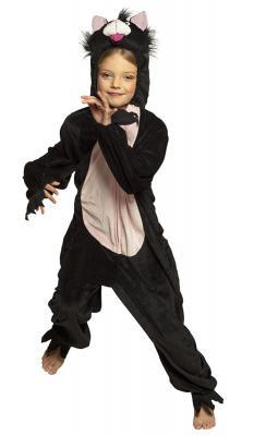 B88066 schwarz Kinder Damen Herren Katzen Kostüm - 1