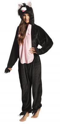 B88066 schwarz Kinder Damen Herren Katzen Kostüm - 3