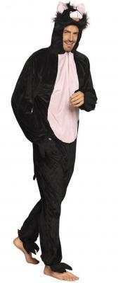 B88066 schwarz Kinder Damen Herren Katzen Kostüm - 4