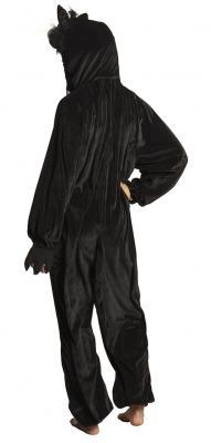 B88066 schwarz Kinder Damen Herren Katzen Kostüm - 5