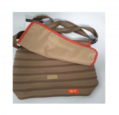 Gi550313 khaki-orange Kinder Damen Herren Reißverschluss Tasche Zip-it - 2