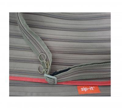 Gi550313 khaki-orange Kinder Damen Herren Reißverschluss Tasche Zip-it - 3