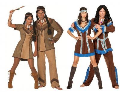 W5787 braun Herren Indianerkostüm Siouxanzug - 1