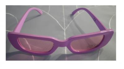 B025531 rosa Damen Herren Neon Party Brille - 1