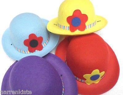 Ma23547 gelb mini Clownmelone Clownhut - 1
