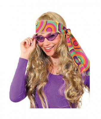 O47562-19 lila Damen Herren Hippie Brille Spaßbrille - 1
