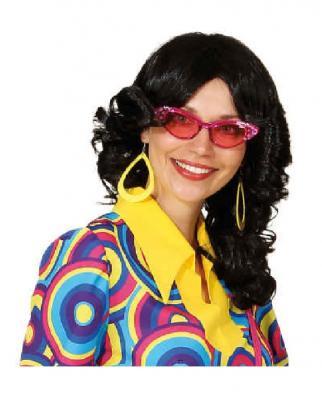 O47562-12 pink Damen Herren Hippie Brille Spaßbrille - 1