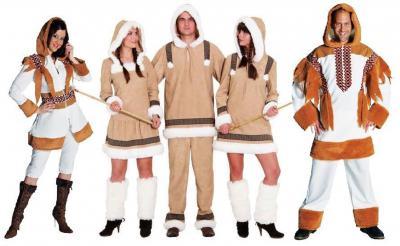 M210242 Eskimo-Forscher Kostüm Eskimomann - 1
