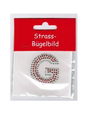 Ma226640 silber-rot Buchstabe G Strassbild - 1