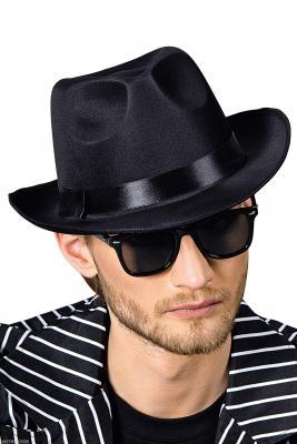T2833 schwarz Damen Herren Mafia 20 er 30 er Jahre Al Capone Ganove Gangster Hut - 1