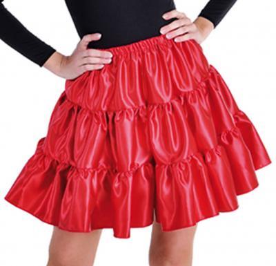 Taft Rock Kostüm Kleid Damen Spanierin Flamenco Saloon Unterrock Petticoat Hippy - 1