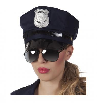 B025319 Damen Herren Polizei Brille Spiegelbrille - 1