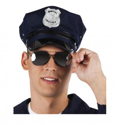 B025319 Damen Herren Polizei Brille Spiegelbrille - 2
