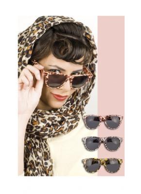 B025623-2 gemustert Damen Tier Brille Partybrille - 1