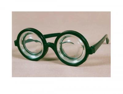 Fu600117 schwarz Damen Herren Doof Brille Spaßbrille - 1