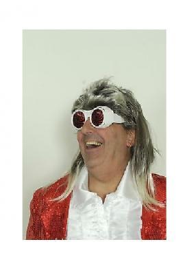 K8525050-2 weiß-rot Damen Herren Spiral Brille Ulkbrille - 1