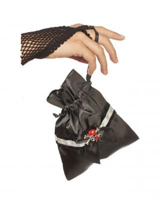 W48956 schwarz Damen Tasche Piratenbeutel Geldbeutel - 1