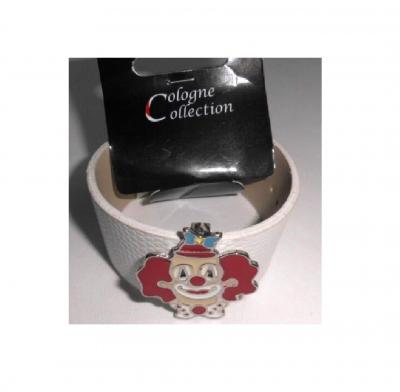 Ma229085 weiß Köln Armband mit Clown Clownkopf - 1
