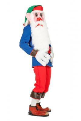 O5149 mehrfarbig Herren Gnom Kostüm Wichtelkostüm - 1