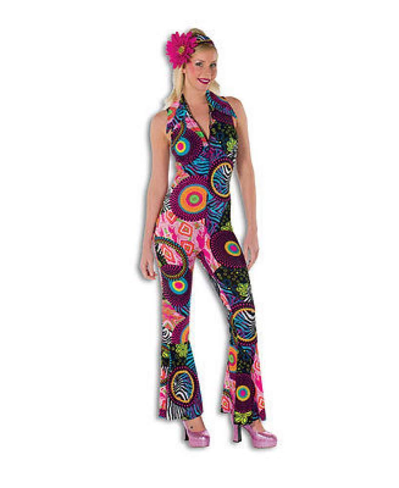 70er 80er jahre kleid kost m flowerpower damen hippie. Black Bedroom Furniture Sets. Home Design Ideas