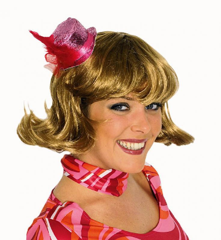 Minihut Mini Hut Glitter Zylinder Disco Party Clown Rokoko Frack