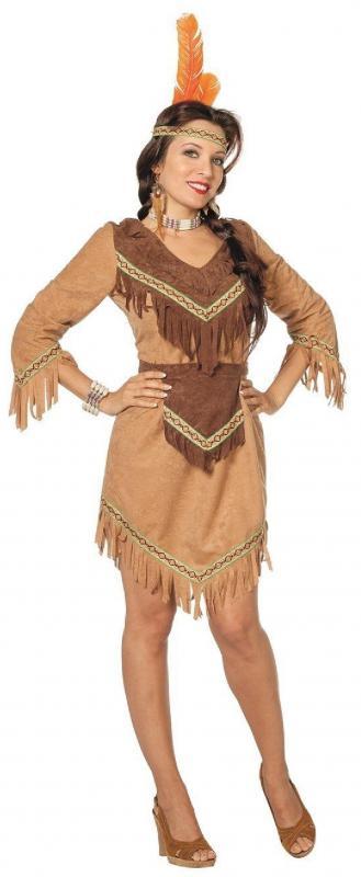 Indianer Apache Damen Indianerkleid Kostüm Kleid Squaw | eBay